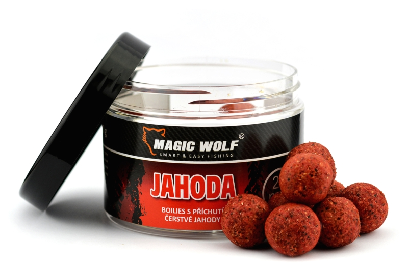20mm  BOILIES SPEED WOLF 250 gr JAHODA